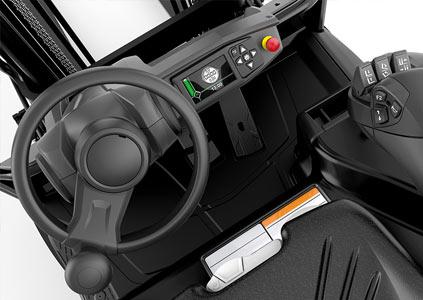 Mitsubishi Edia trukin ergonominen ohjaamo