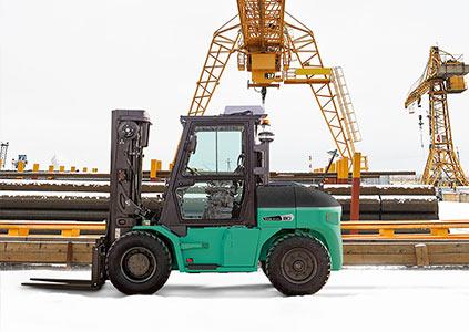 Mitsubishi Trexia trukki talvikäytössä